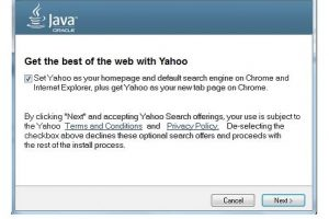 Oracle decidiu deslocar Ask com Yahoo! em atualizações Java