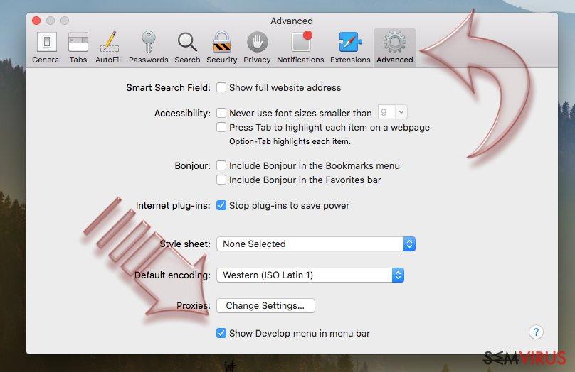 Como reconfigurar o Safari? instantâneo