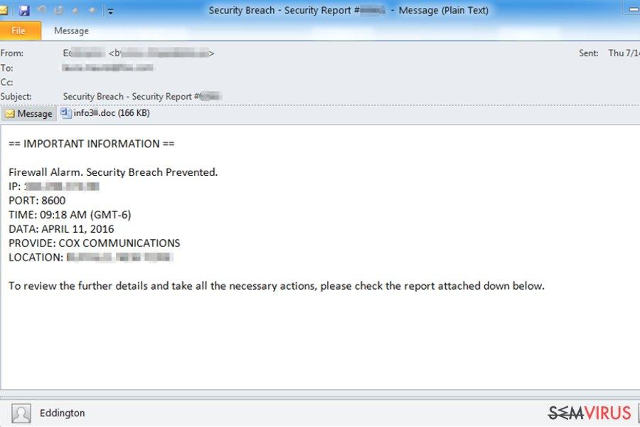 Como identificar um e-mail infetado por um vírus? instantâneo