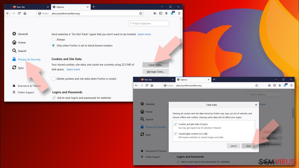 Restaurar o Mozilla Firefox