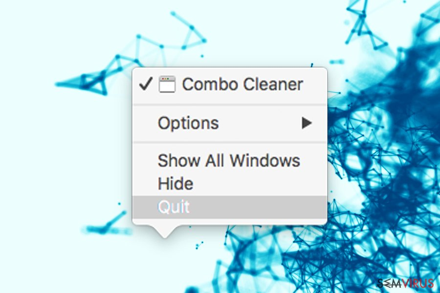 Quit Combo Cleaner