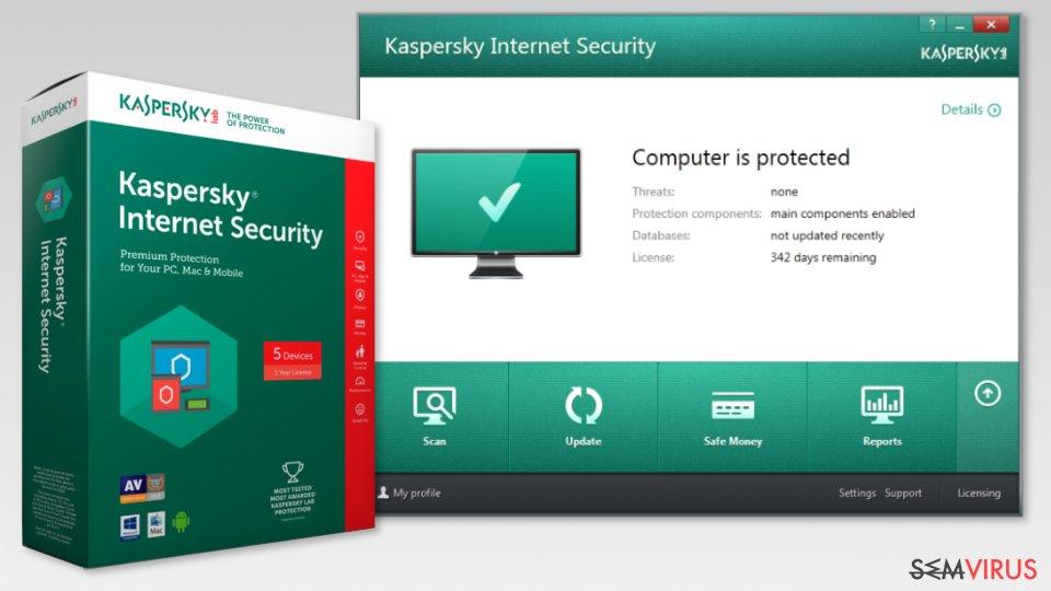 The image of Kaspersky Internet Security