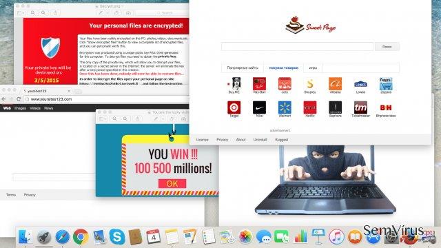 Ciberameaças você deve olhar para este ano: adware Browser Hijackers ransomware e vírus instantâneo