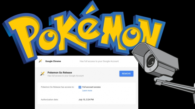 An illustration of Pokemon Go privacy violation