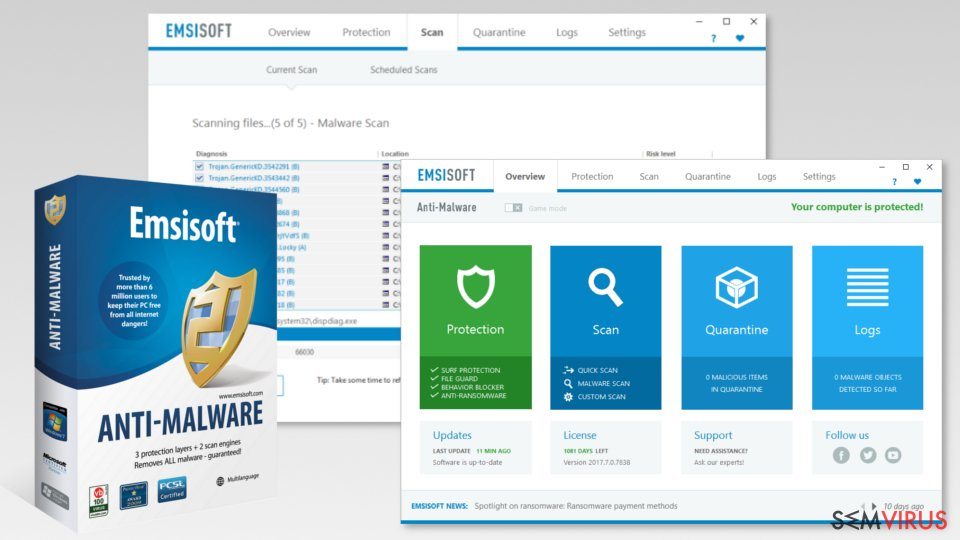 Screenshot of Malwarebytes Premium