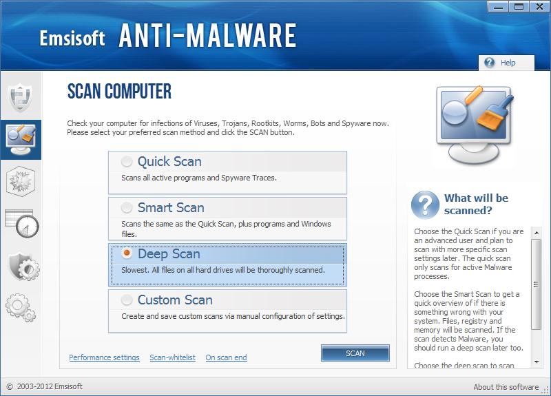 Emsisoft Anti Malware instantâneo