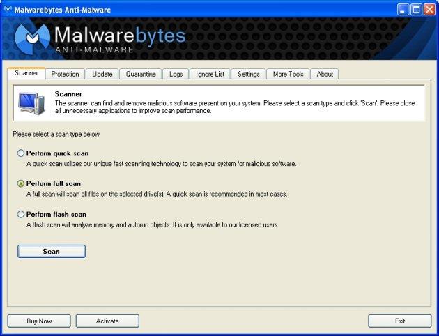 Malwarebytes Anti Malware instantâneo