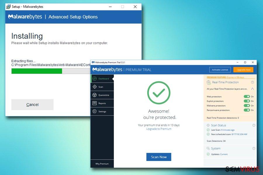 Malwarebytes installtion