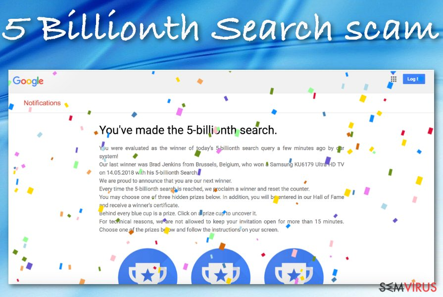 "Fraude ""5 Billionth Search"""