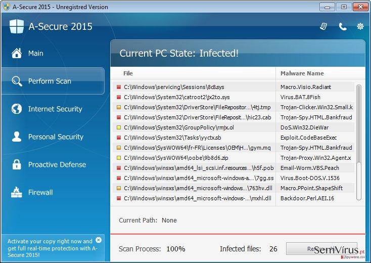 A-Secure 2015 instantâneo