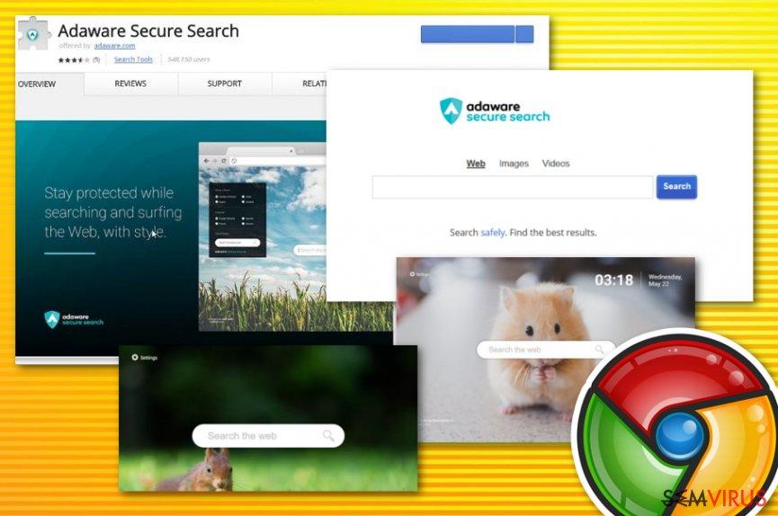 Vírus Adaware Secure Search