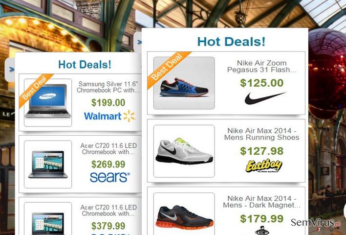 Anúncios de Deals Finder instantâneo