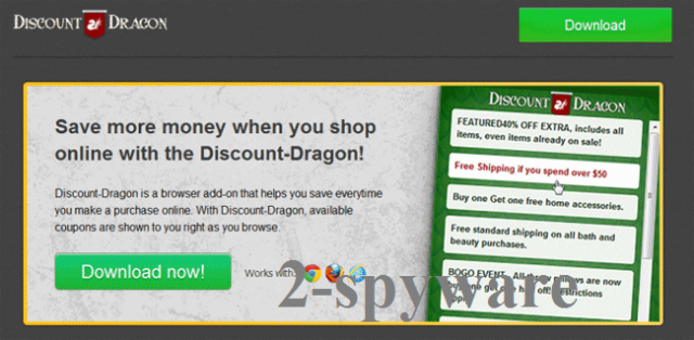 'Ads by Discount Dragon' virus instantâneo