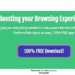 Anúncios de PerformWeb App instantâneo