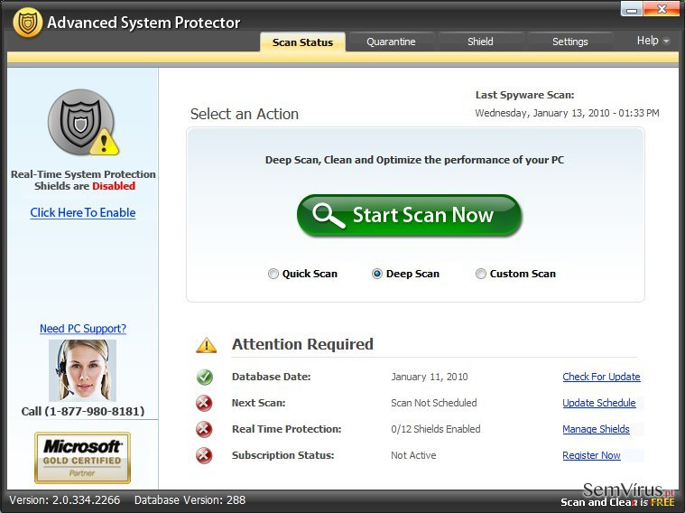 Advanced System Protector instantâneo