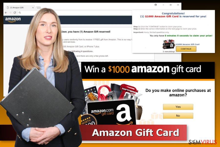 Exemplos dos esquemas Amazon Gift Card