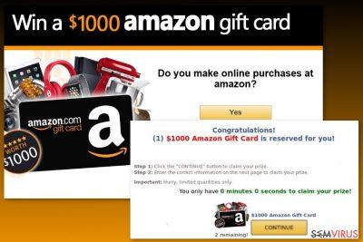 Exemplo do vírus Amazon Gift Card