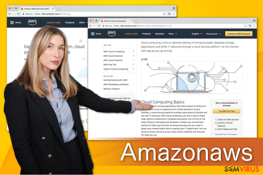 Ilustração do Amazonaws