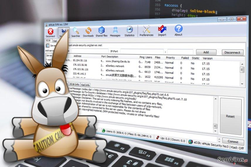Captura de ecrã da aplicação amuleC