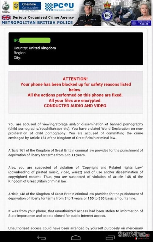 Android Police Vírus instantâneo