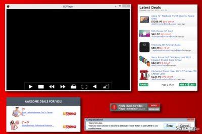 Exemplos de anúncios do GUPlayer