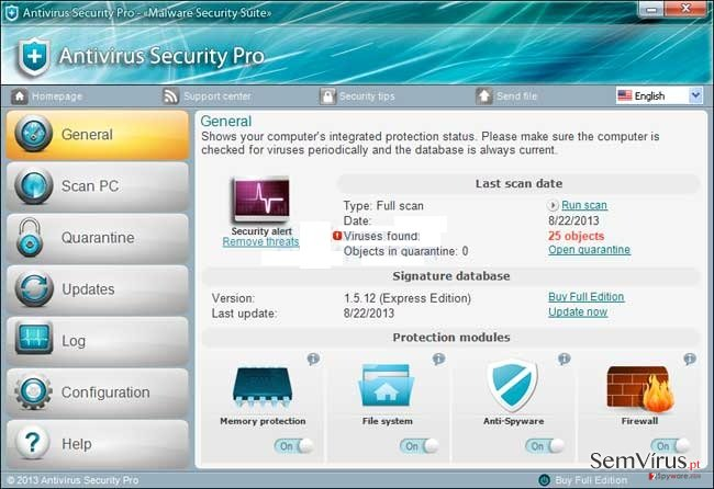 Antivirus Security Pro instantâneo