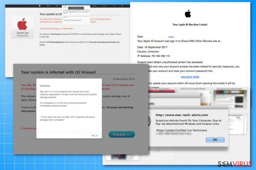 Fraudes de vírus Apple