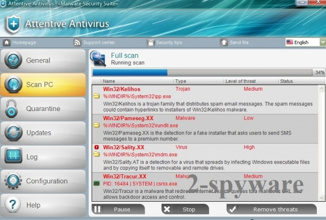 Attentive Antivirus instantâneo