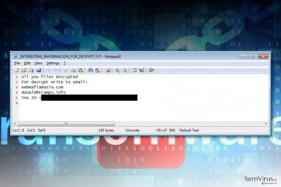 Vírus ransomware Azer
