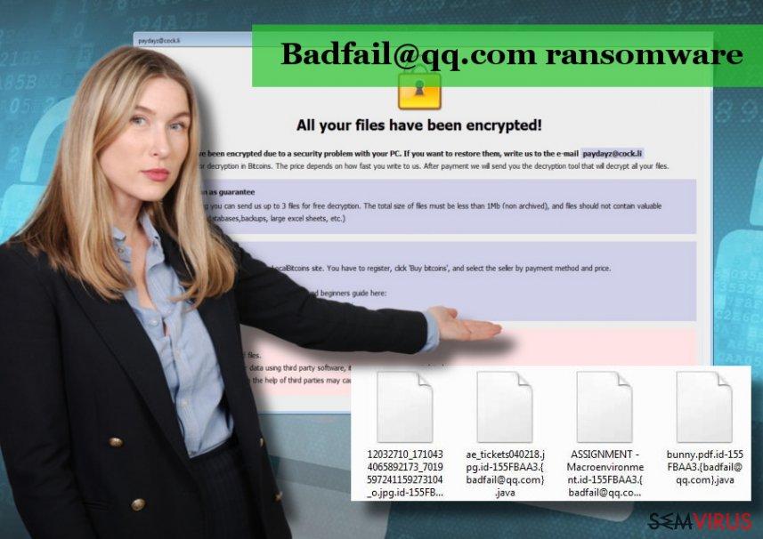 O vírus Badfail@qq.com é uma versão do ransomware Arrow