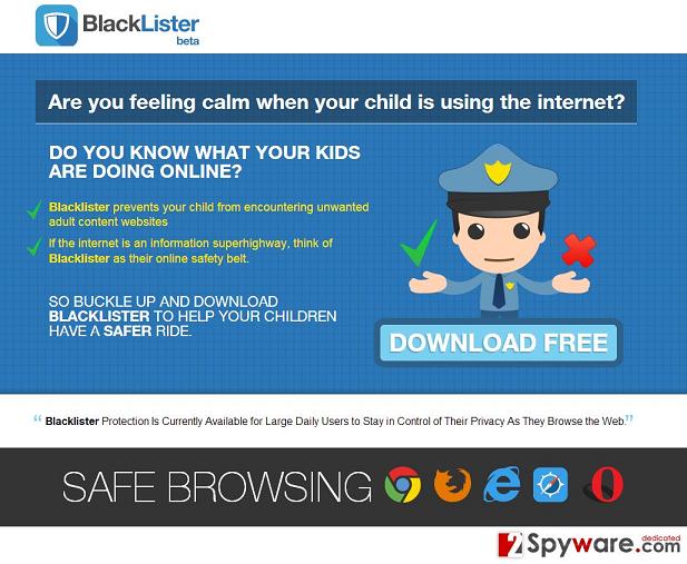 Anúncios de BlackLister instantâneo