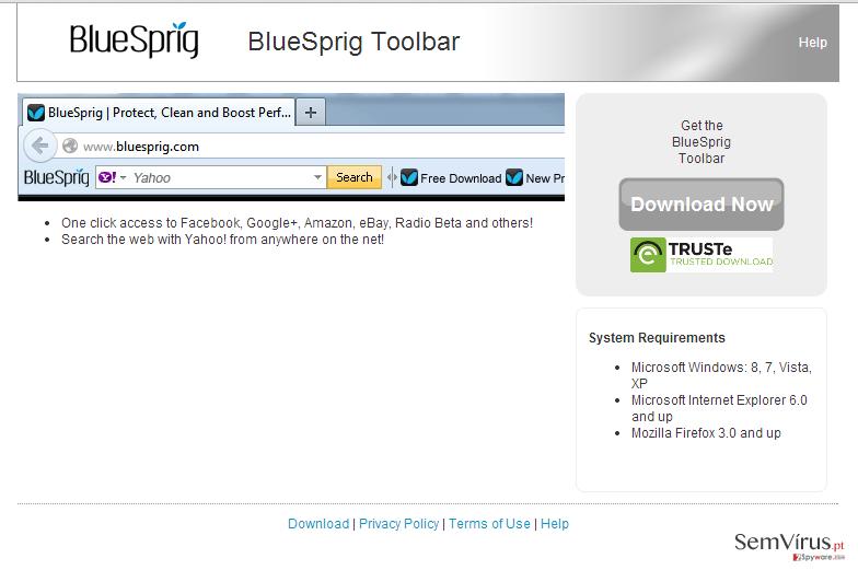 BlueSprig Toolbar instantâneo