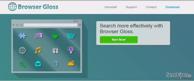 Anúncios por Browser Gloss instantâneo