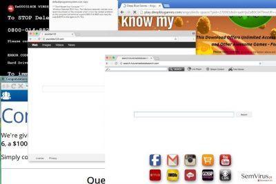 Exemplos do redirecionamento Browser