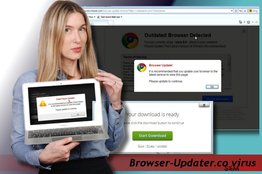 Browser-Updater.co pop-up virus instantâneo