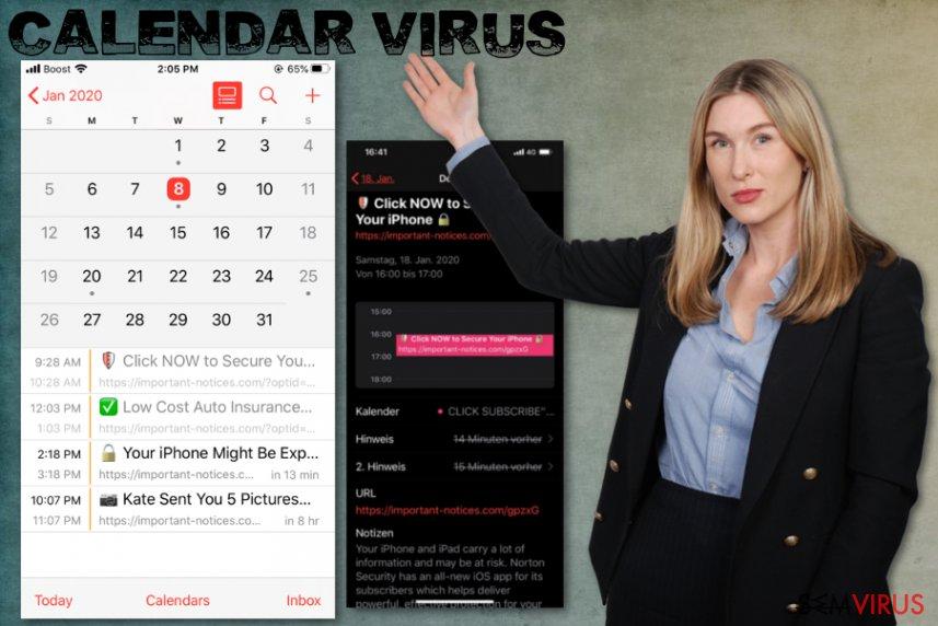 Vírus do Calendário no iPhone
