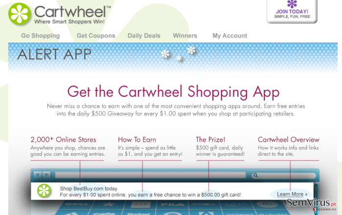Cartwheel Shopping virus instantâneo