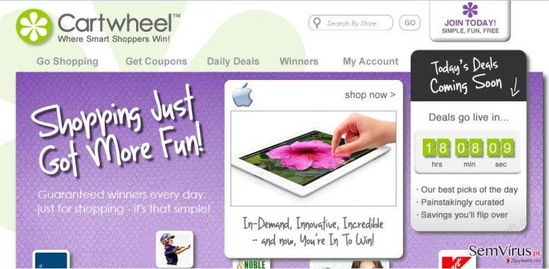 Anúncios de Cartwheel Shopping instantâneo