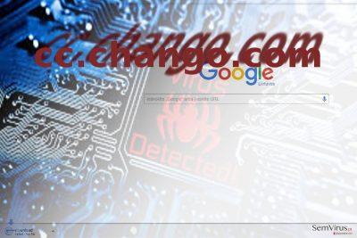 A imagem que ilustra o vírus cc.chango.com