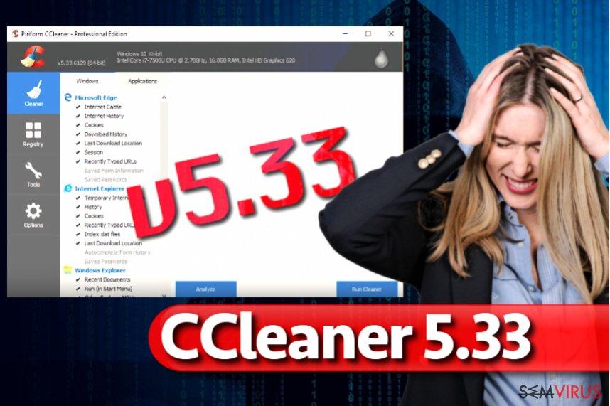 Vírus CCleaner 5.33