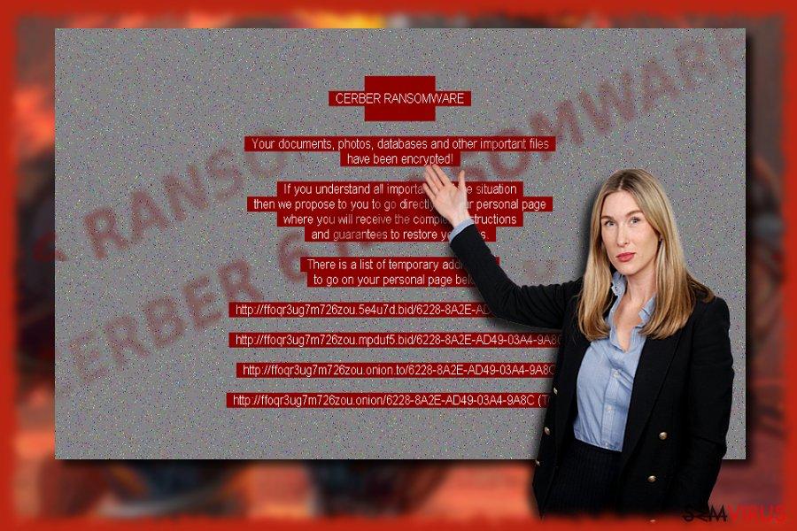 Vírus ransomware Cerber 6