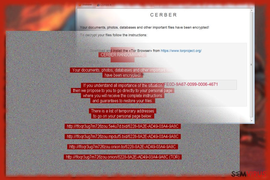 Captura de ecrã do Cerber 6