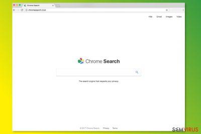 Página inicial do ChromeSearch.club