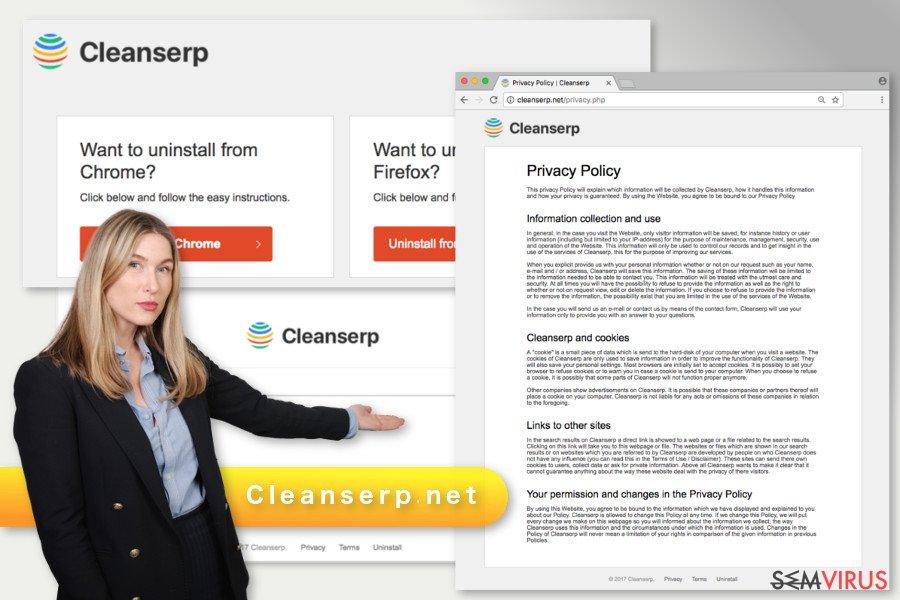 A ilustração do vírus Cleanserp.net