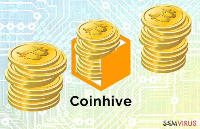 A imagem abstrata do Coinhive Miner malicioso