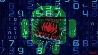 A imagem a ilustrar o malware Android com.google.provision