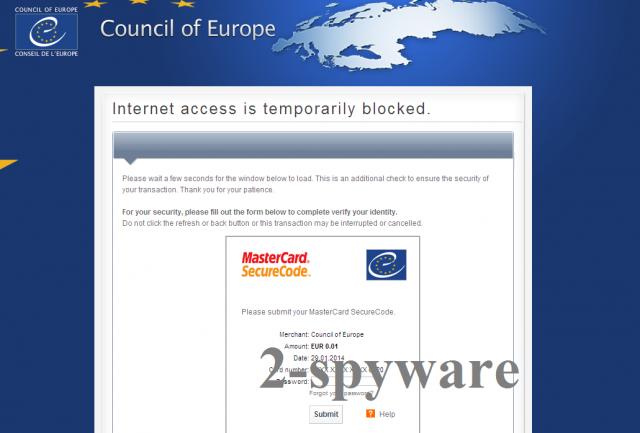 Council of Europe virus instantâneo