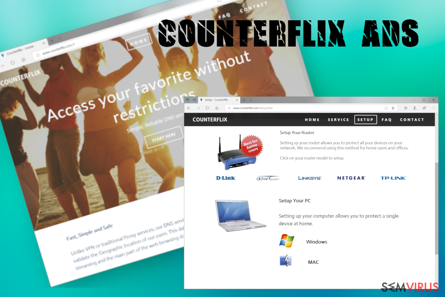Anúncios do Counterflix instantâneo