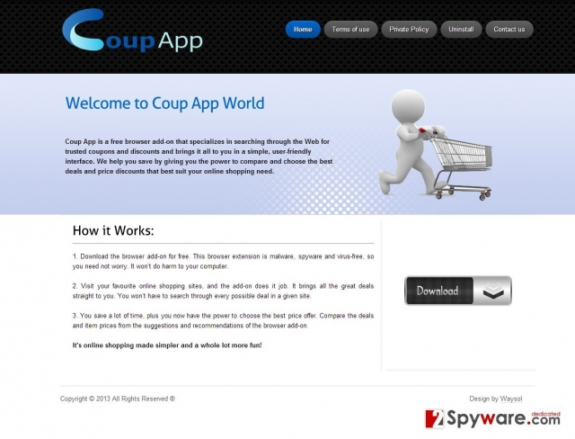 Coup App Anúncios instantâneo