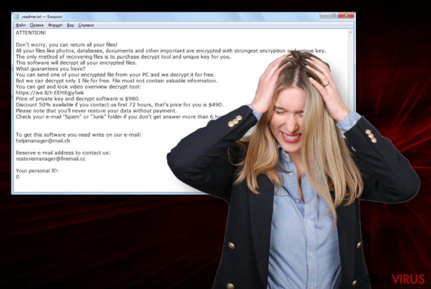 Vírus ransomware Covm